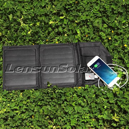 7w black solar charger