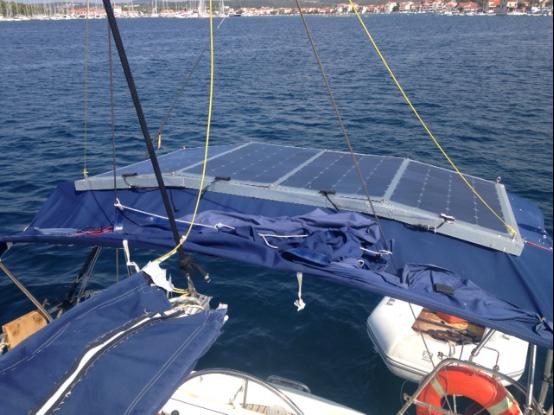 Lensun Flexible Solar bracket install on the yacht boat