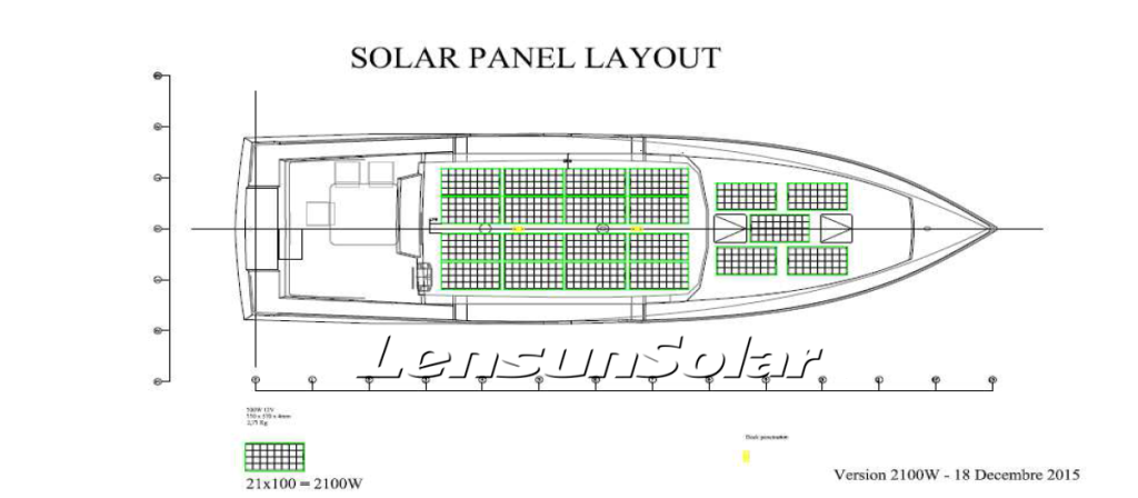 Lensun-sailboat installation solar power system
