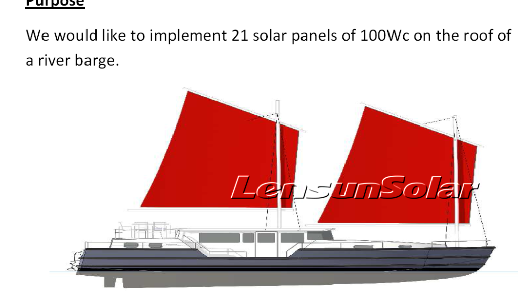 Lensun - sailboat solar power