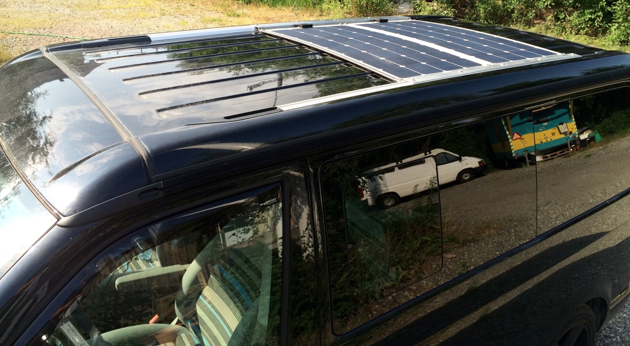 Lensun solar panel solar power solar energy on the caravan motorhome ...