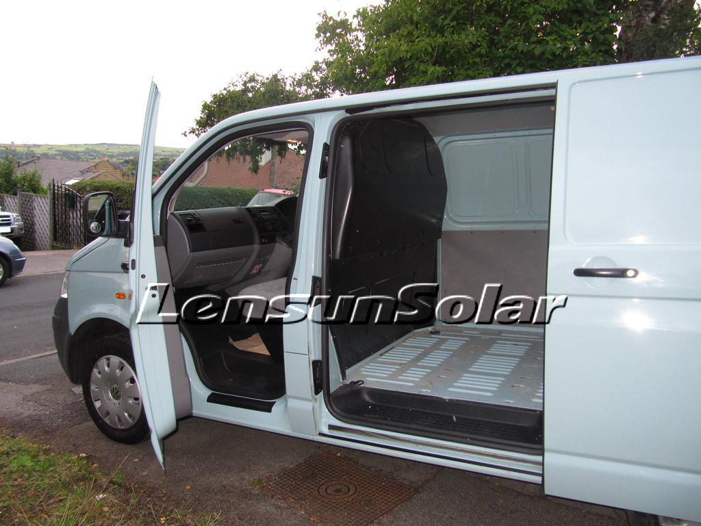 solar power VW-T5 Review for Lensun 80W semi-flexible solar panels