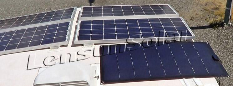 Lensun Semi Flexible 100 Watt Solar Panel Review And Video