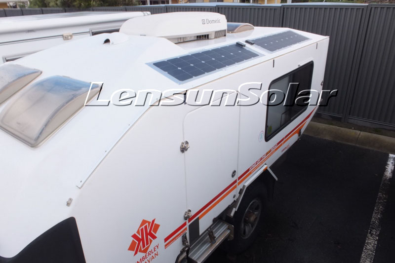 Lensun-100W-18V-sunpower-solar-cells-for-kimberley-caravans-kimberley-kamper-off-road-van-best-caravan-australian-off-road-campers-off-road-motorhome-camping trailer