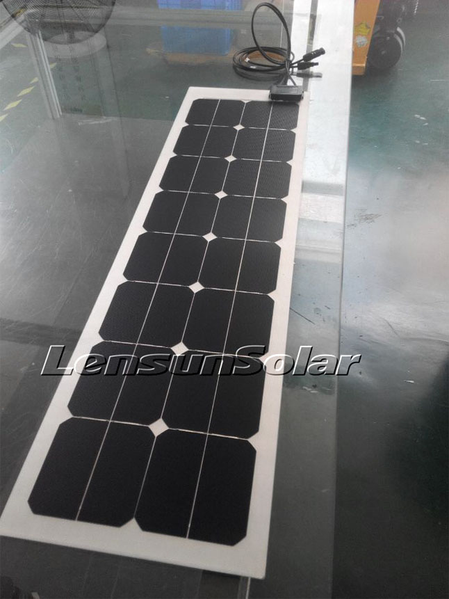 Lensun-50W-12V-solar charge-for-Kimberley-Karavan