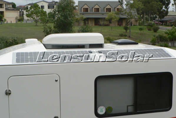 Lensun-50W-sunpower-solar-cells-Mono-Solar-Panels - Installed-on-Kimberley-Karavan-off-road-caravan