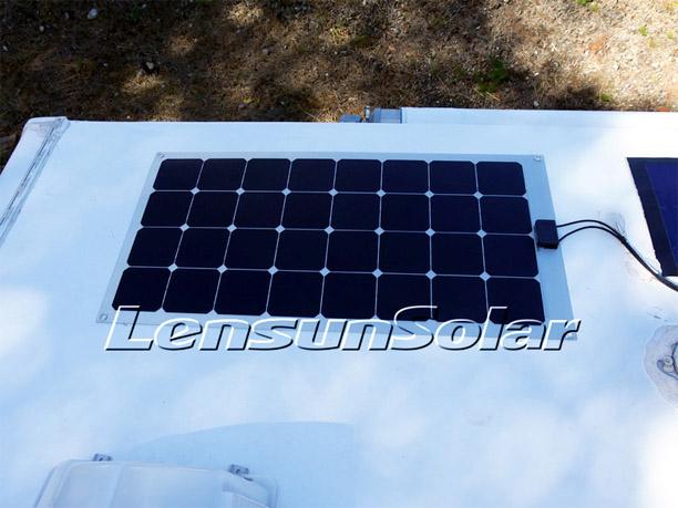 Very Rugged Flexible Solar Panel Lensun 100 Watt On Rv