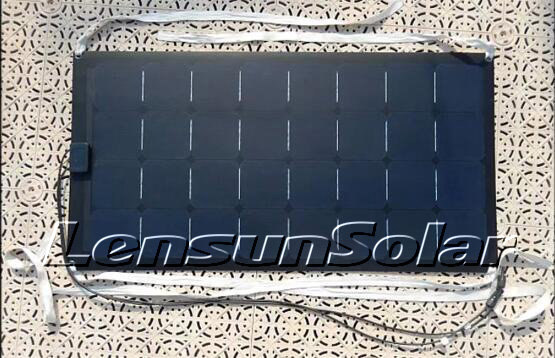 Lensun-100W-12V-monocrystal-sunpower-solar-cells-flexible-solar-panel-ETFE-black-fiberglass-solar-power-system-electric-energy