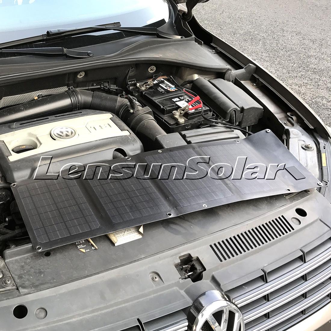 Lensun 20w 12v Folding Flexible Solar Charger For Mobile Phone Laptop And Car Battery Best Thinnest Panel