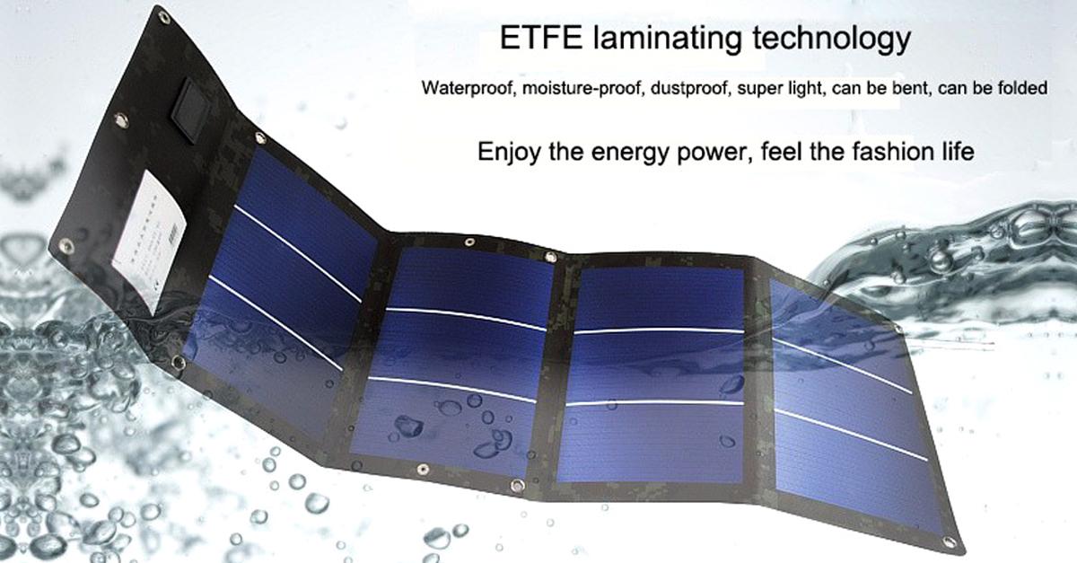 New 12w 12v Folding Flexible Solar Charger For Mobile