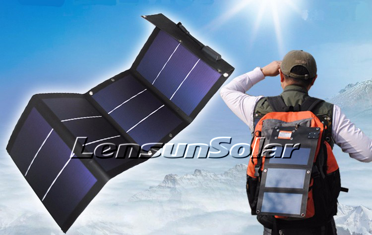 New 12w 12v Folding Flexible Solar Charger For Mobile
