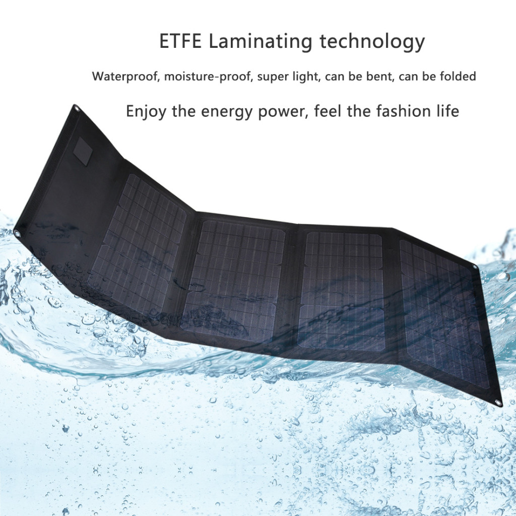 New Design Of Etfe Coating Technology For 36w Folding Flexible Solar Panels To Charge 12v Battery And 5v Devices In The Wild Lensun Lensun