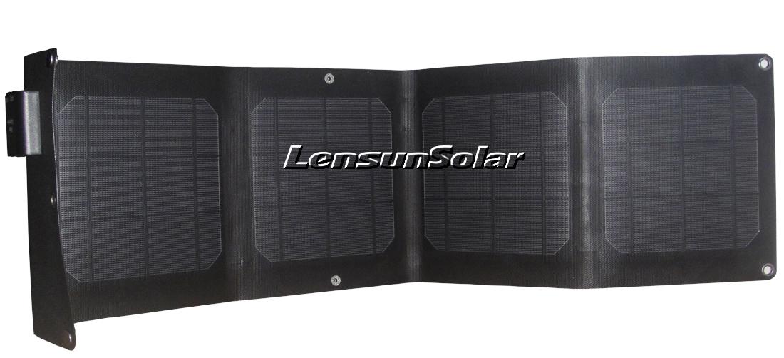 Lensun Etfe Laminated 20w Folding Solar Charger 2 Port Usb