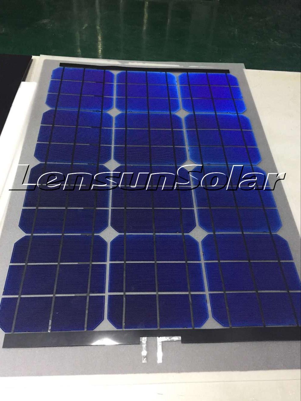New Order About 100pcs Lensun Semi Flexible Solar Panels