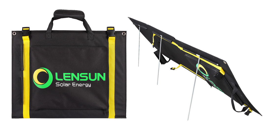 Lensun-100W-portable-folding-solar-panel-complete-kit-for-camping-hiking-power