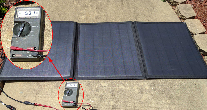 How To Use Multimeter Measure Volts And Amps Of Solar Panel