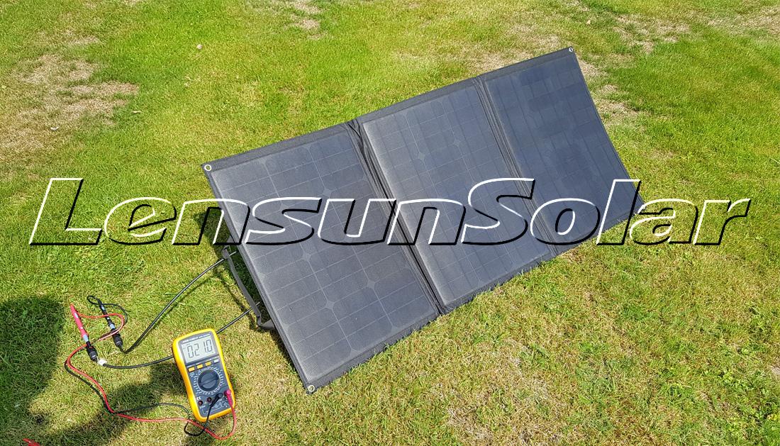 Lensun 100w 12v Ultralight Folding Solar Panel With Mc4