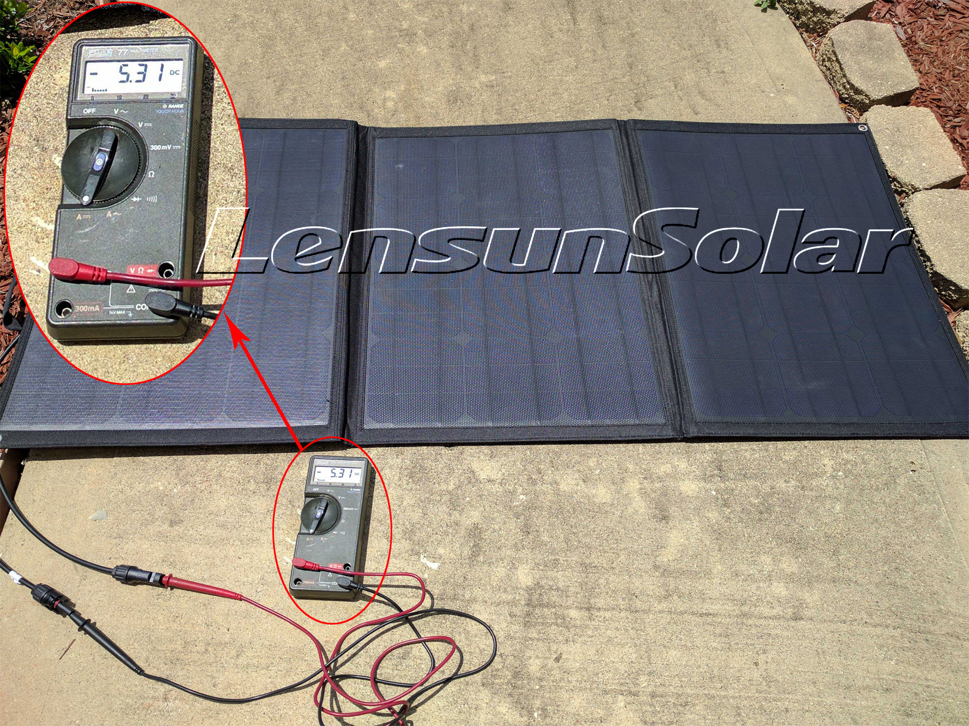 How To Use Multimeter Measure Volts And Amps Of Solar Panel Solarpanelpoweredbatterychargercircuitdiagram Lensun Portable 100w Dc Testing Via