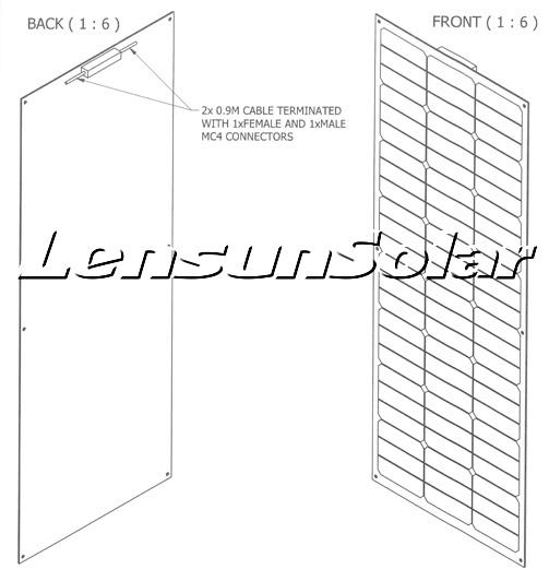 Lensun-65W-ETFE-Flexible-solar-panel-power-energy