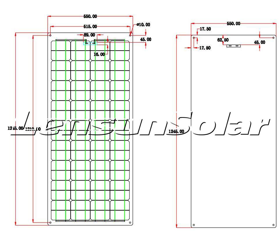 Lensun-design-speical-flexible-ETFE-Solar-panel