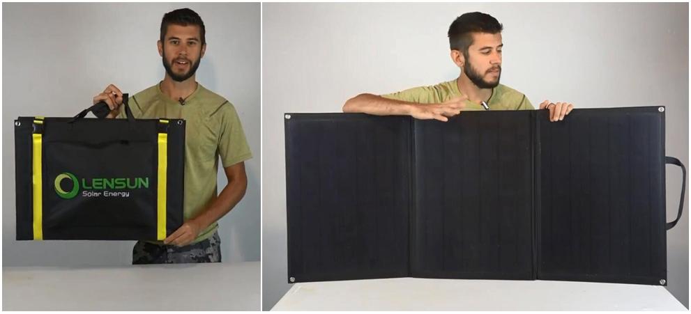 Lensun-100W-ETFE-solar-panels-folding-solar-portable-lightweight-rvs-motorhomes-caravans