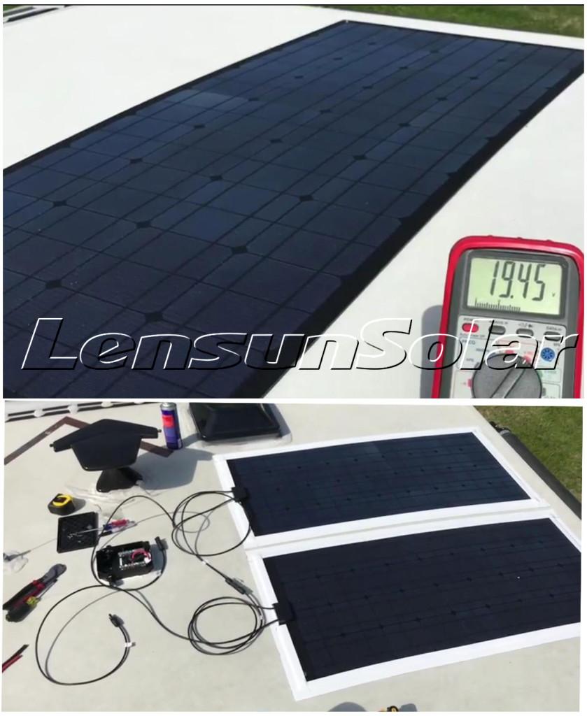 Lensun-18V-100W-Flexible-Solar-ETFE-COATING-PANELS