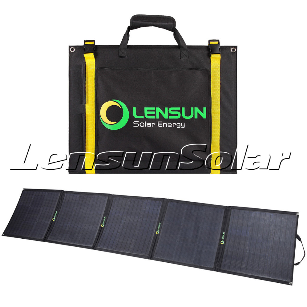 Lensun-200W-Portable-folding-solar-panel-for-outdoor-camping-with-controller-complete-kit-motorhome
