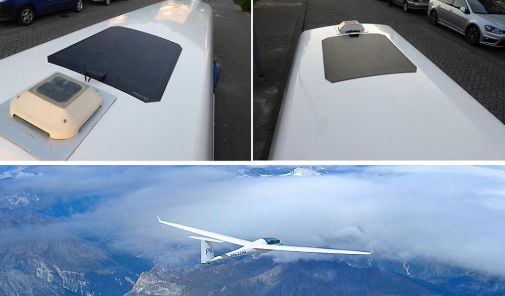 Lensun-Solar-panel-on-glider-trailer