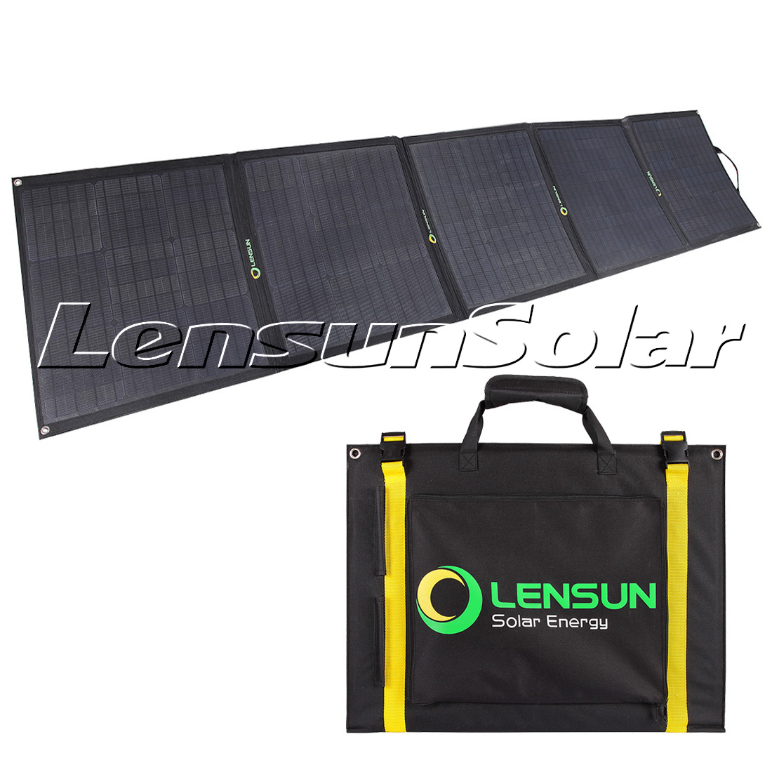 Lensun 200w 5 X 40w 12v Etfe Flexible Folding Solar