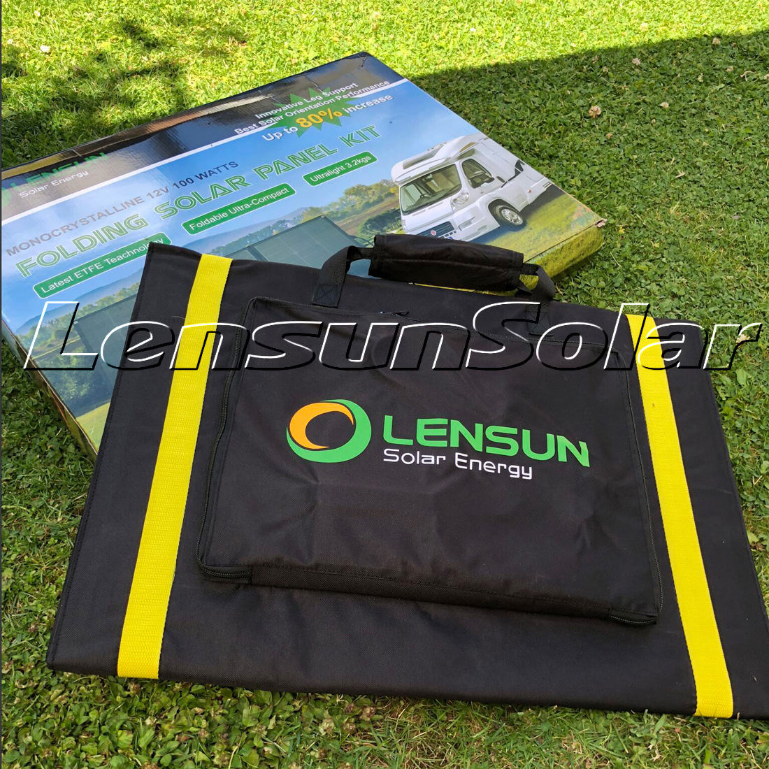 New Review And Video About Lensun 100w Portable Folding