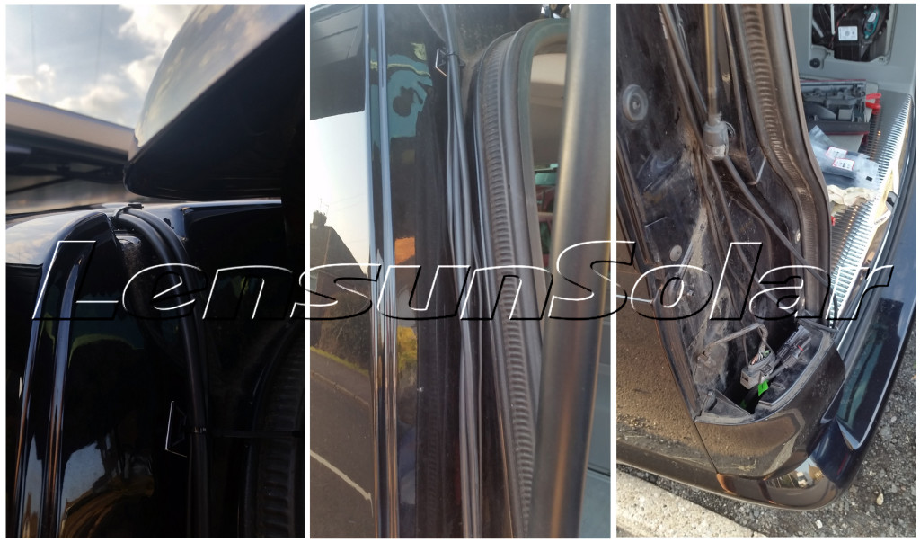 VW-T5-Caravelle-with-Thule-Slide-Bars-and-Fiamma-F45s-sun-canopy-wiring-cables-from-lensun-solar-50W-power-ETFE-panel-charge-battery