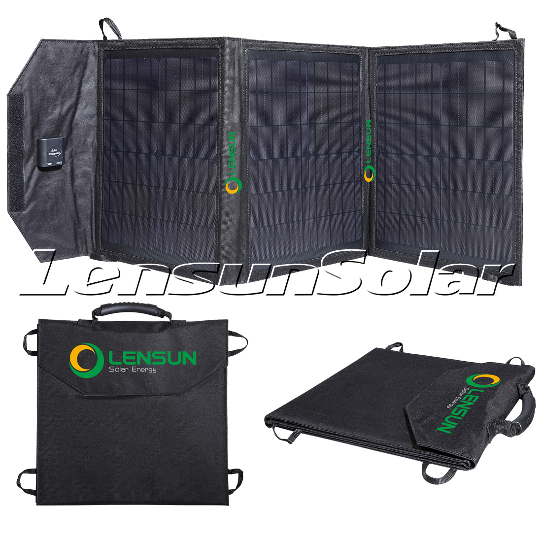 Lensun 50w 12v Ultralight Portable Solar Blankets With