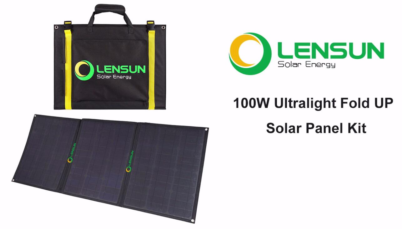 Installation Solar Panel Lensun Lensunsolar Cell Wiring 100w Ultralight Folding Portable Foldable High Quality Etfe