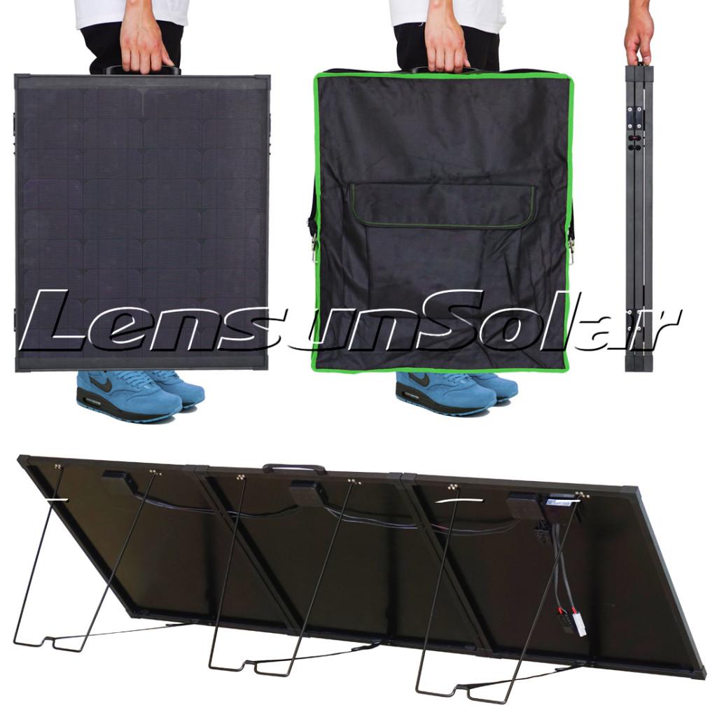 Innovative-Lensun-12V-150W-200W-Super-Lightweight-Thin-Portable-Folding-ETFE-Coating-Solar-Panel-with-black-fiberglass-back-sheet-Perfect-for-camper-life