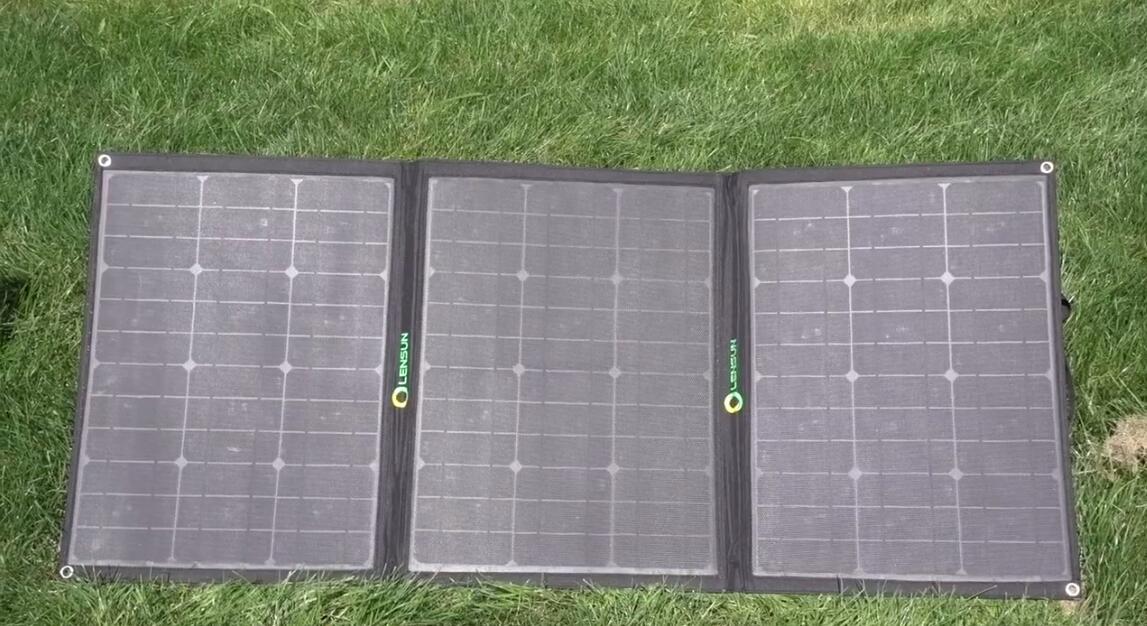 Lensun 100w Ultralight Folding Etfe Solar Panel Kit