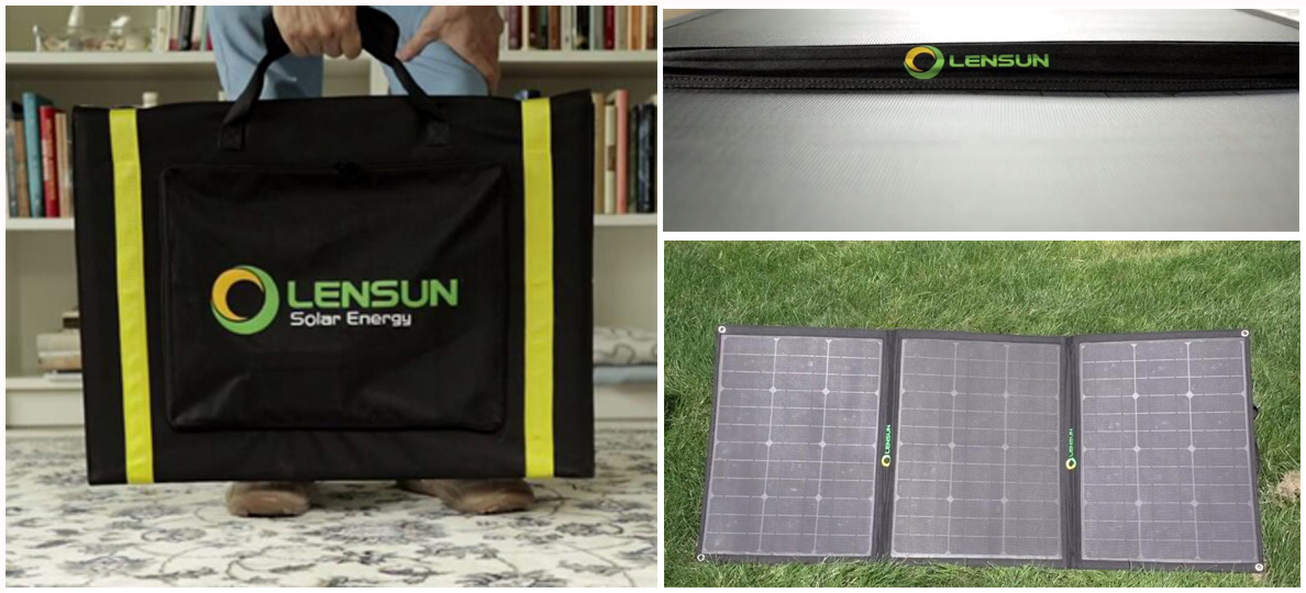 Lensun-100W-Ultralight-Portable-Folding-ETFE-solar-panel-kit-with-10A-solar-charge-controller-cables-Charge-for-battery-ideal-campingvan-motorhome-rvs-truck-trailer-caravan-outdoor