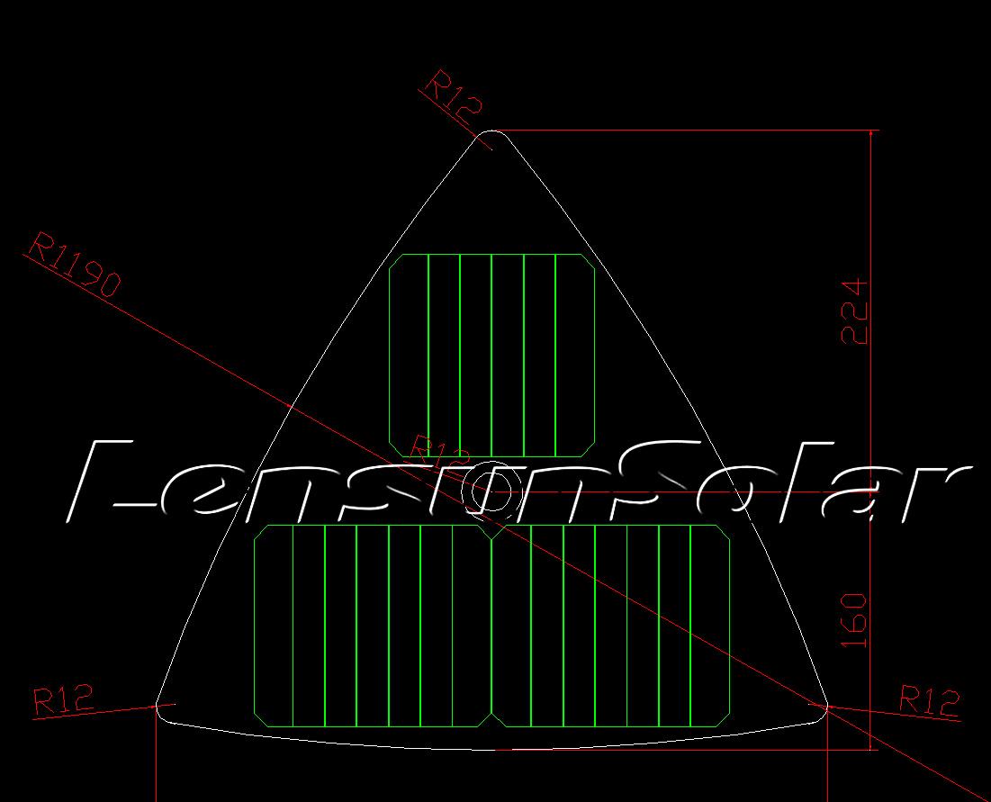 Do Special Triangle 10w 10v Etfe Black Flexible Solar