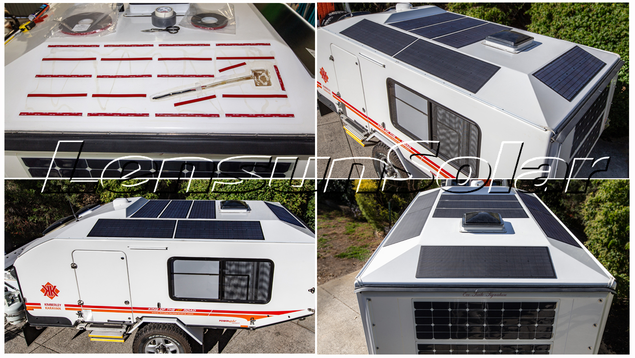 New Reviews From Frank Hali About Customizing Special 55w 18v Solar Panels For Kimberley Karavan Of Off Road Caravan In Australia Lensun