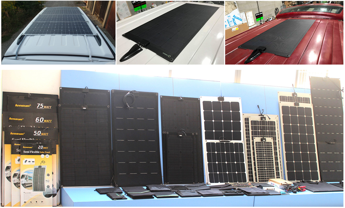 Lensun-flexible-solar-panels-installed-on-the roof-of-rvs-caravans-motorhomes-trailer-boats-yachts-campingvans