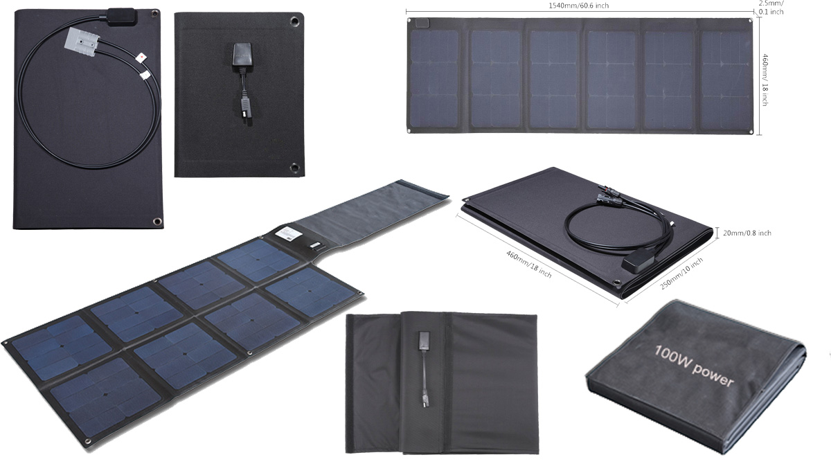 Lensun Ultralight 100w Etfe Portable Folding Solar Panels