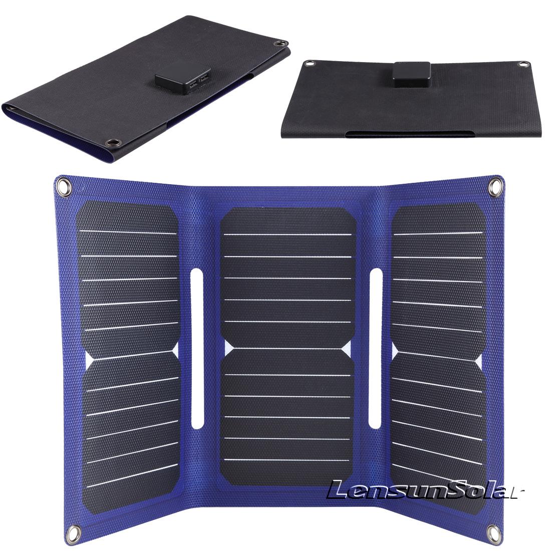 Lensun-21W-etfe-coating-folding-solar-panel-usb-port-for-iphone
