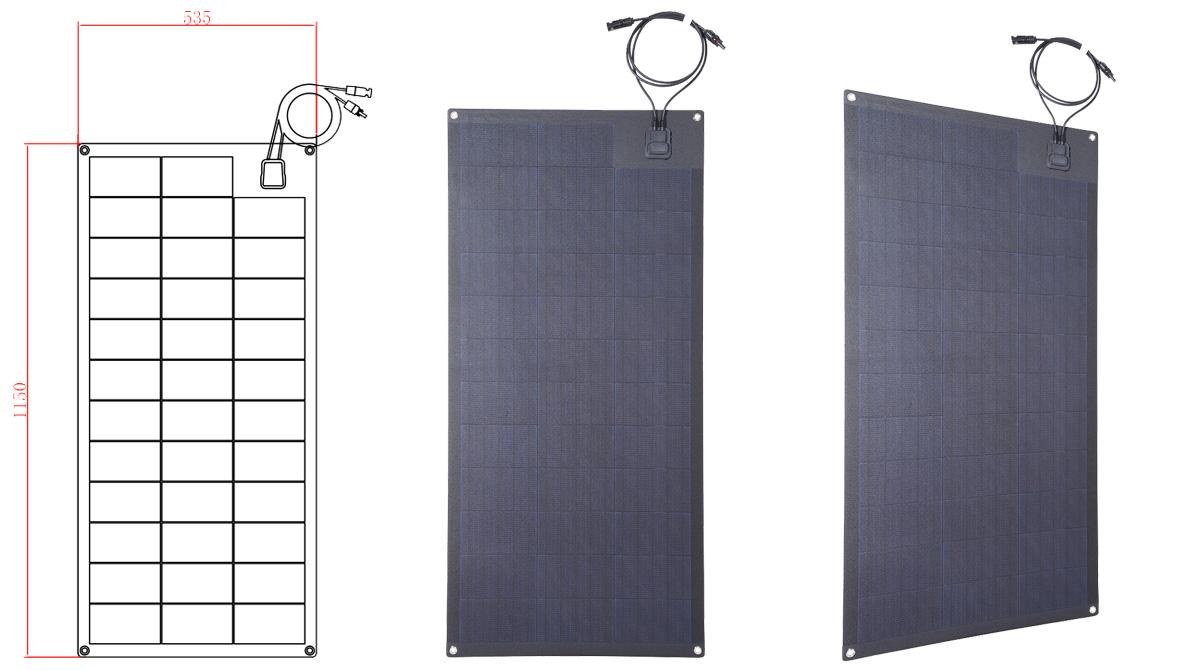 lensun-100W-semi-flexible-solar-panels-for-caravans-motorhomes-cars-rvs-camppervans-boats-yatches