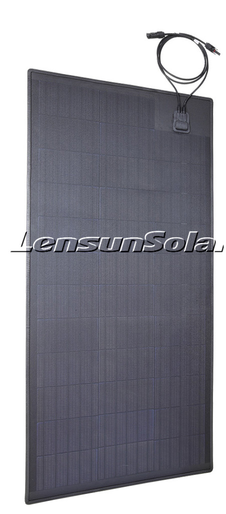 Lensun-100W-ETFE-black-flexible-solar-panels-with-rubber-strips-dToyota-off-road-vehical-01