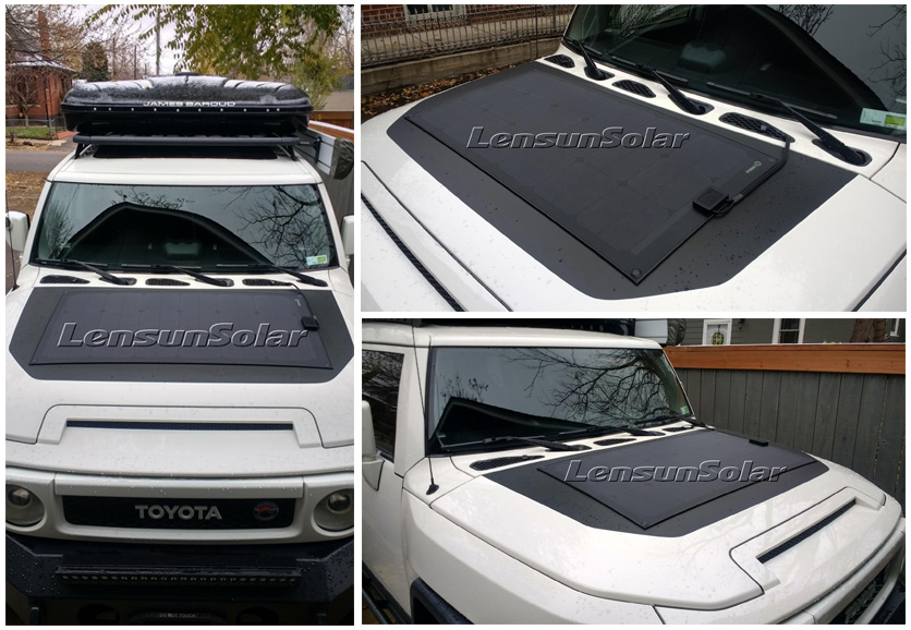 Lensun-100W-ETFE-black-flexible-solar-panels-with-rubber-strips