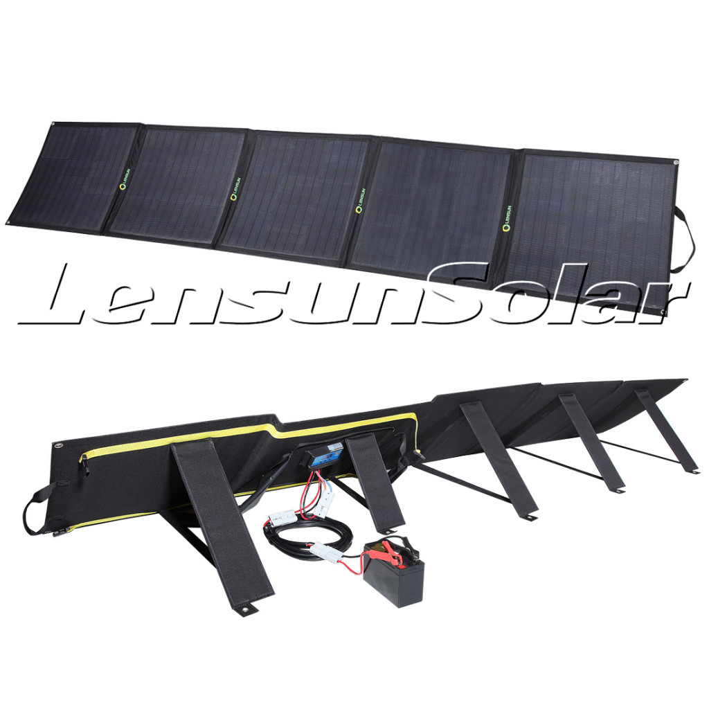 Lensun-200W-Portable-folding-solar-panel-for-outdoor-camping-rvs-motorhome