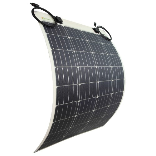 LENSUN 100W 12V ETFE Flexible Solar Panel, Cutting Edge Technology Protect The Solar Cells, Tougher, Lighter, Durable, for RVs,Boats,Campers