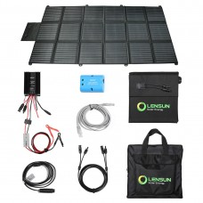 Lensun 360W 12V Portable Solar Blanket Panel Kit with 30A Waterproof MPPT Solar Controller perfect for keeping your 12V dual battery system charged