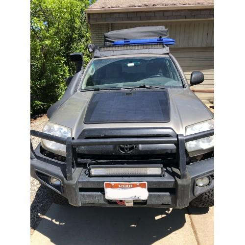 Toyota 4Runner 4th & 5th Gen (2003-2021) Lensun 100W Hood Flexible Solar Panel