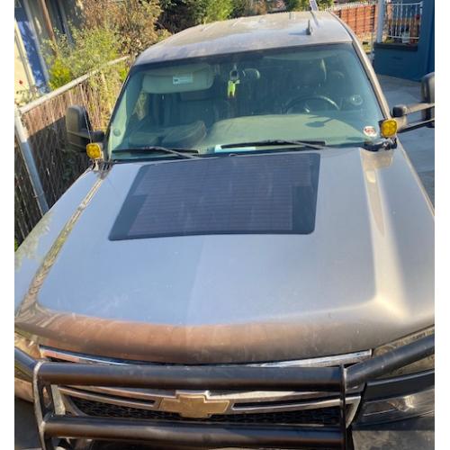 Chevy/Cherolet Silverado 2500HD  Lensun 90W ETFE Flexible Hood Solar Panel