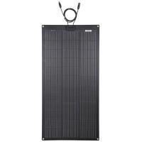 LENSUN 105W 12V ETFE Black Flexible Solar Panel, PERC 9BB 23.5% Mono Solar cells, for RVs,Boats Battery Charge